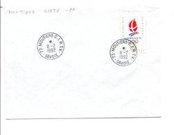 OBLITERATION MANUELLE MOUTIERS -C.I.R.T.V. SAVOIE 1992 - Manual Postmarks
