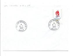 OBLITERATION MANUELLE LES SAISIES - V.O. SAVOIE 1992 - Manual Postmarks