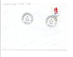 OBLITERATION MANUELLE ALBERTVILLE - C.T.O.SAVOIE 1992 - Manual Postmarks