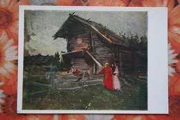 """RUSSIA ART , Korovin """"A Shed"""" , OLD POSTCARD Landscape 1961 - Russia"""
