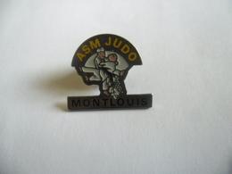 PIN'S A.S.M JUDO MONTLOUIS SUR LOIRE (Dpt 37) 22 Mm X 19 Mm - Judo