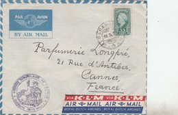 SURINAME - YT 222 -MI 256 - SCOTT 199 - SEUL SUR LETTRE PARAMARIBO 19/6/50 CACHET SERVICE CONSULAIRE DE FRANCE - Surinam
