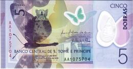 Saint Thomas & Prince - Pick New - 5 Dobras 2016 - 2018 - Unc - Sao Tomé Et Principe