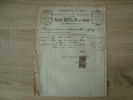 FACTURE EUGENE REPELLIN COMMERCE DE BOIS MEAUDRE 38 1903 - France