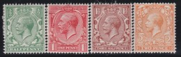 England    .   Yvert   .   139/142    .  1921/22   .  Simple GVR   .  *    .      Mint-hinged .   /    .  Ongebruikt - 1902-1951 (Koningen)