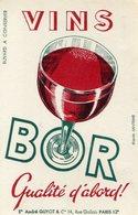 BUVARD(VIN) BOR(PARIS) - Buvards, Protège-cahiers Illustrés