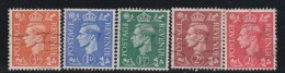 England  .     Yvert   .    251/255        .       O       .       Cancelled .   /    .   Gebruikt - 1902-1951 (Koningen)