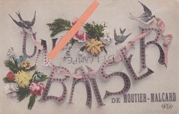 """23-MOUTIER-MALCARD-""""Un BAISER De MOUTIER-MALCARD""""-Edit. E.L.D.-Ecrite- BON ETAT- - France"""
