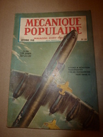 1948 MÉCANIQUE POPULAIRE:Automobile Hudson;Sauvegarde Des Forêts; L'avion CONSTITUTION;Chasse Au Puma;Cruiser-moteur;etc - Technical