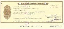 GREECE CHECK CHEQUE BANK OF GREECE, ATHENS, 1970'S - Chèques & Chèques De Voyage