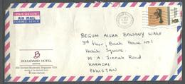 USED AIR MAIL COVER  BRUNEI TO PAKISTAN - Brunei (1984-...)