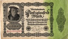 ALLEMAGNE - REICHSBUNKNOTE - 50 000 MARK - 1922 - [ 3] 1918-1933 : Repubblica  Di Weimar