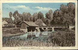 77  CHATENAY Sur SEINE  Pont Et Lavoir De La Chapelle - Other Municipalities