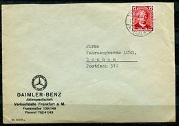 "German Empires 1936 Firmen Bedarfsbrief (Daimler Benz) Mit Mi.Nr.605 EF (Carl Benz) Mit Tstp.""Frankfurt/Main ""1 Beleg - Cars"