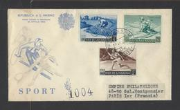 SAINT-MARIN.  N° 365/372  Oblitération 1er Jour.  20-4-1953 - FDC