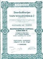 Steenbakkerijen VAN WALLEGHEM & Co - Industrie