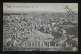 Italia. Lazio. Roma. *Panorama Della Cupola Di S. Pietro* Ed. Alterocca Nº 5723. Circulada 1917. - San Pietro