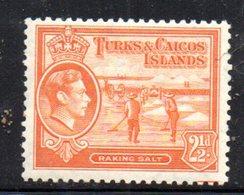 1065  490 - TURKS E CAICOS 1938 , Yvert N. 125  ***  Giorgio VI - Turks E Caicos