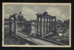 Italia. Lazio. Roma. *Avanzi Del Tempio Di Saturno* Ed. Cecami. Circulada 1933. - Roma (Rome)
