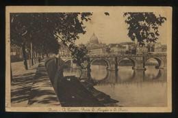 Italia. Lazio. Roma. *Il Tevere. Ponte S. Angelo E S. Pietro* Circulada 1930. - Roma (Rome)