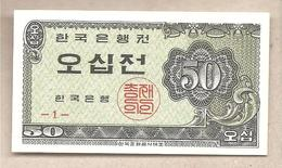 Corea Del Sud - Banconota Non Circolata FDS Da 50 Jeon P-29a - 1962 - Corea Del Sud