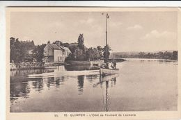 Cp , 29 , QUIMPER , L'Odet Au Tournant De Locmaria - Quimper
