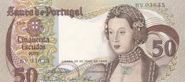 Portugal  -Nota De 50 Escudos Infanta Dº Maria -28-5-1968  -Letras BV - Portugal