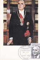 CPM 10X15. Entier Postal 1er Jour 1975 . Président Georges POMPIDOU (1911-1974) - Personnages