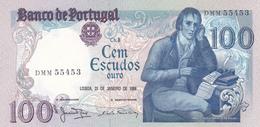 Portugal -nota -100 Escudos -Bocage -31-1-1984 -Letras DMM - Portugal