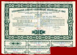 M3-33525 Greece 1963. Loan- Bond 500 Dr. - Aandelen