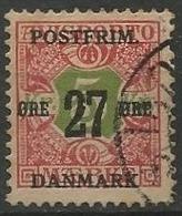 LSJP DENMARK Seal For Newspaper Surcharge Yvert 93 1918 - 1913-47 (Christian X)