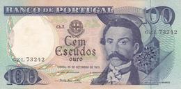 Portugal -nota -100 Escudos -Camilo Castelo Branco-20-9-1978 - Portugal