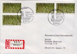 Postal History Cover: Germany Stamps On Registered Cover - Agriculture