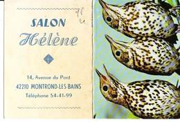 Calendrier 1978 Pub Salon Helene Montrond Les Bains - Calendars