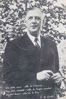 """CPM 10X14 Propagande Charles De GAULLE  (Au Dos : 5 Décembre, Choix Historique """"Comme Vous, Je Vote De Gaulle """" - Personnages"""