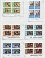 Nicaragua 1976; Chess Schaken ; Full Set 11x In Cornerblocs Of 4 With Printerremarks - Nicaragua
