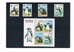 Namibia - The Jackass Penguin - WWF - Y790/93 - BF28 - W.W.F.