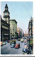 MELBOURNE  -  Elizabeth Street - Looking Towards Flinders Street  -  1956 - Melbourne