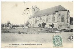 IVRY-la-BATAILLE - Eglise Avec Avenue De La Couture - Ivry-la-Bataille