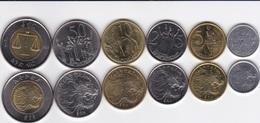 Ethiopia - Set 6 Coins 1 5 10 25 50 Cents 1 Byrr 2004 - 2010 UNC Ukr-OP - Ethiopia