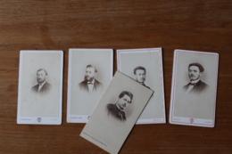 5 Cdv Second Empire Noblesse Homme Dont Photographe Touzery , Cayol, Langerock - Photos
