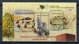 Türkei Block 'UNESCO-Welterbe Troja' / Turkey 'UNESCO World Heritage Troya' **/MNH 2018 - Archäologie