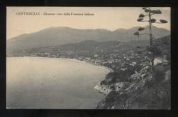Italia. Liguria. Ventimiglia. *Mentone Visto Dalla Frontiera Italiana* Ed. S.A.F. Nueva. - Italia