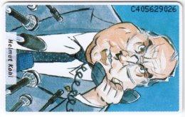NETHERLANDS B-253 Chip Telecom - Cartoon, Politician, Helmut Kohl - MINT - Netherlands