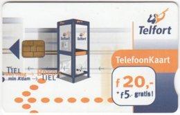 NETHERLANDS B-278 Chip Telfort - Communication, Phone Booth - Used - Netherlands