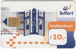 NETHERLANDS B-304 Chip Telfort - Communication, Phone Booth - Used - Netherlands