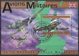 Guinea 2011 Bf. 2052A Supermarine Spitfire Avions Militaires Aviazione Sheet Perf. CTO Guinee - Guinea (1958-...)
