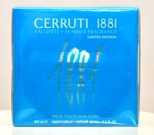 Cerruti 1881 Eau D'Eté Summer Fragrance Limited Edition Eau De Toilette Edt 100ML Spray Perfume Woman Rare Vintage 2004 - Women