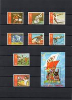 Äquatorial Guinea, 1978, Michel 1288/95, Block 283, Gestempelt/°/stamped, Ol.Spiele Moskau - Guinée Equatoriale