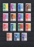 INdonesien, 1962, Michel 345/59, Postfrisch/**/MNH, 4. Asiatische Sportspiele - Indonésie